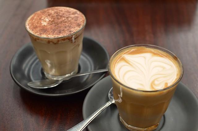 Almond milk chai latte, almond milk latte
