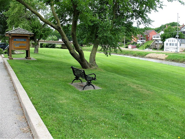 Bench in Galena, Canon POWERSHOT A630