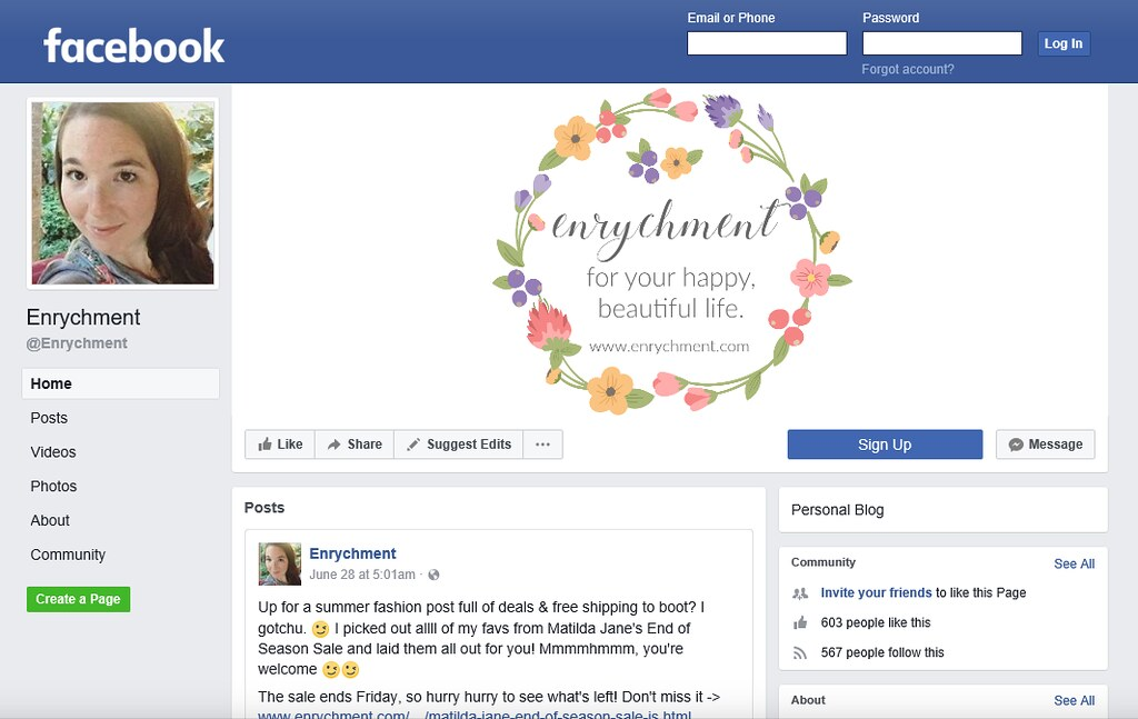 @enrychment on Facebook