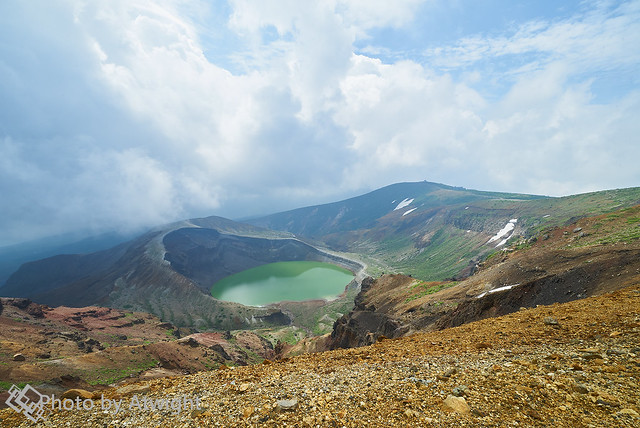A Mysterious Lake on the Top of Mt. Zao