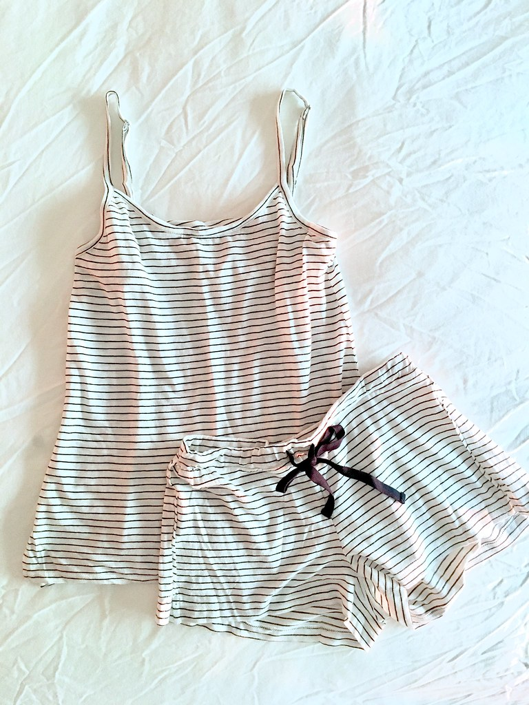 LOFT Striped Cami Pajama Set, size XXS regular