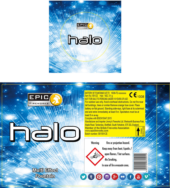 NEW FOR 2017 - Halo Fountain #EpicFireworks
