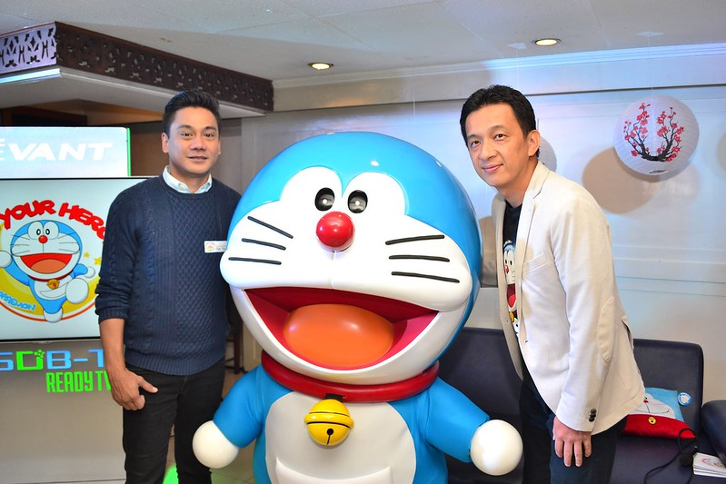 (L-R) Animation International Philippines General Manager Abe Franco and Animation International Ltd. General Manager Tim Kondo at the Doraemon Press Conference