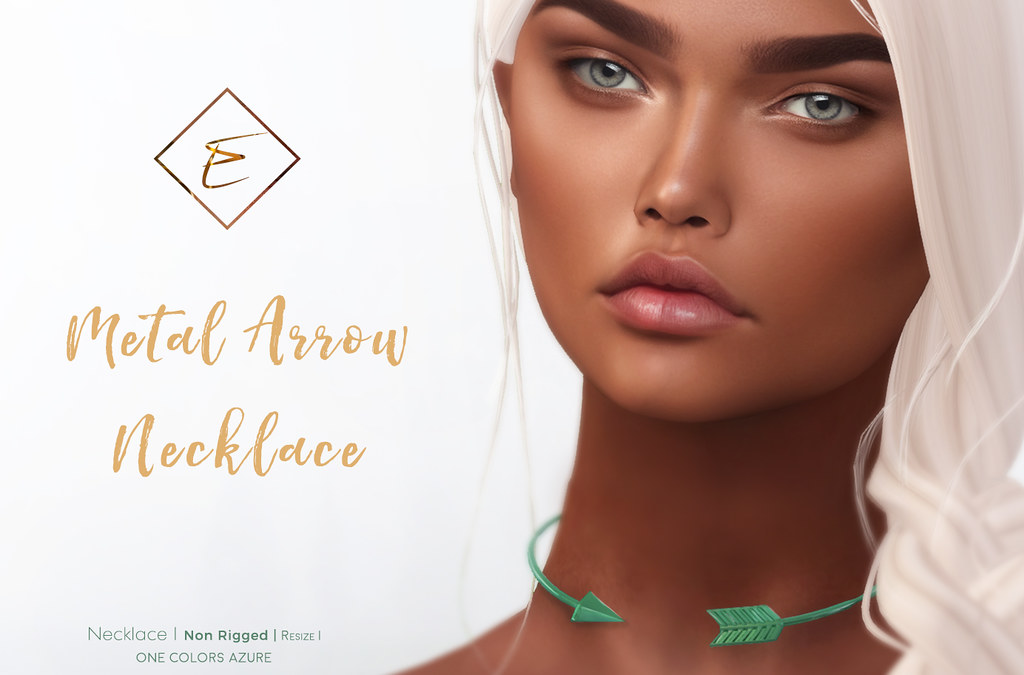 [Enchante'] - Metal Arrow Necklace - Gift - SecondLifeHub.com