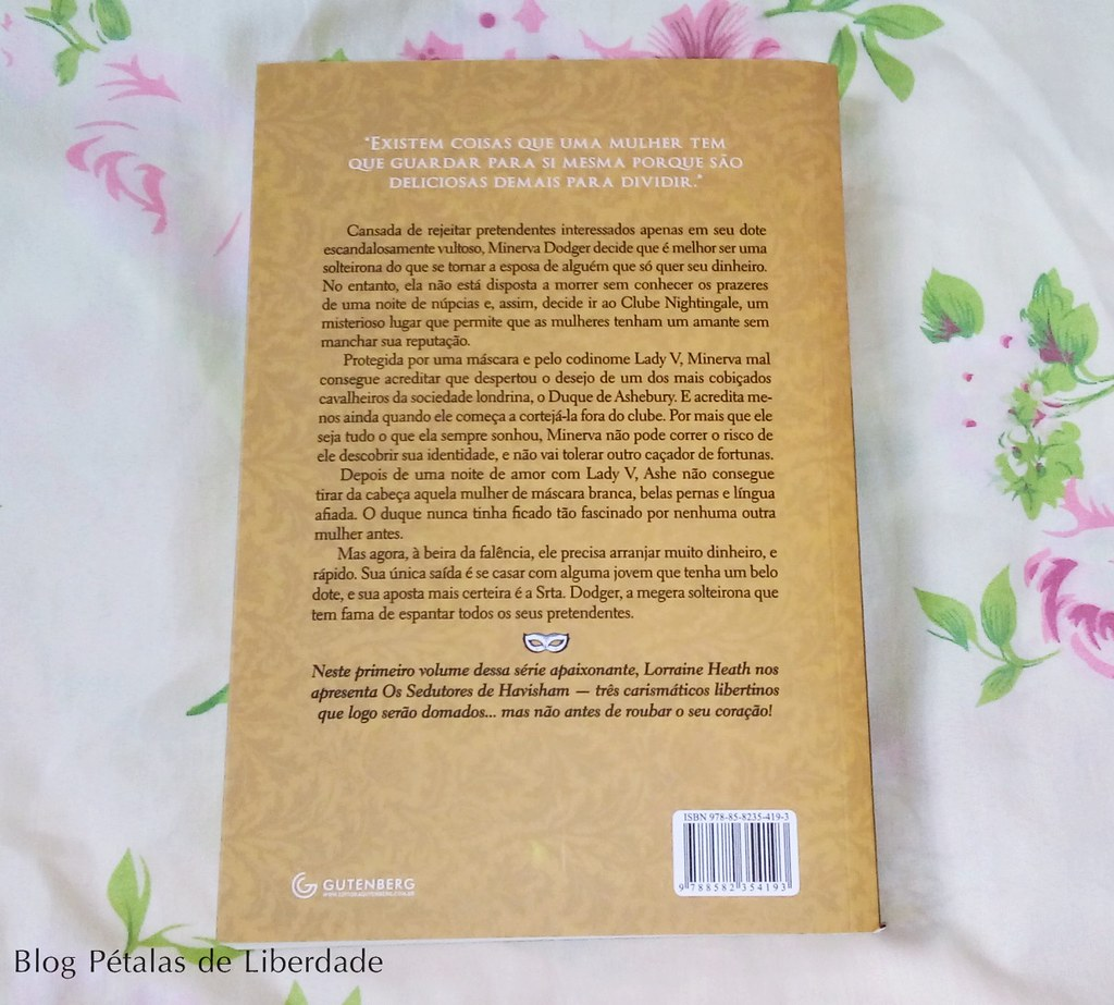 Resenha, livro, Codinome-Lady-V, Lorraine-Heath, Editora-Gutenberg, opiniao, critica, fotos, imagem, romance-de-epoca, trecho, quote, sinopse, capa