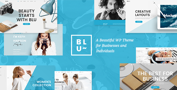 Blu v1.3 – A Beautiful Theme for Businesses and Individuals