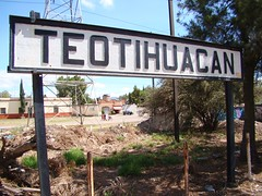 Ferrocarril Mexicano - Sign at Former Teotihuacan Passenger Station