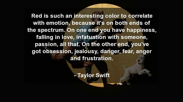 Meilleurs Citations De Jalousie  : Red is such an interesting color to correlate with... - Taylor Swift https://citations.tn/citations/amour/jalousie/meilleurs-citations-de-jalousie-red-is-such-an-interesting-color-to-correlate-with-taylor-swift/ #LaJalou