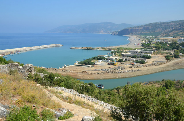 The harbour of Gazipaşa, the ancient town of Selinus, Cilicia, Turkey