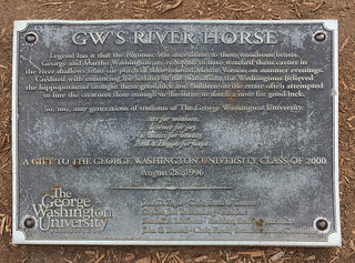'River Horse' Plaque -- George Washington University Campus Washington (DC) July 2017