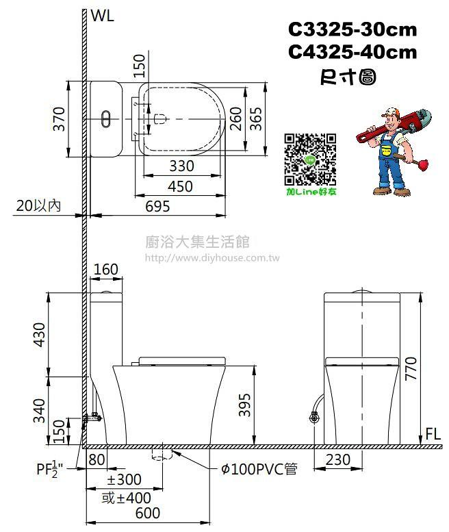 C3325 Size