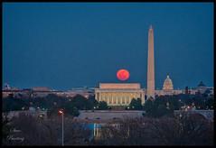 Full Moon over Washington, DC - From USMC Memorial