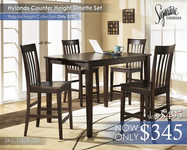 Hylands Counter Height D258-223