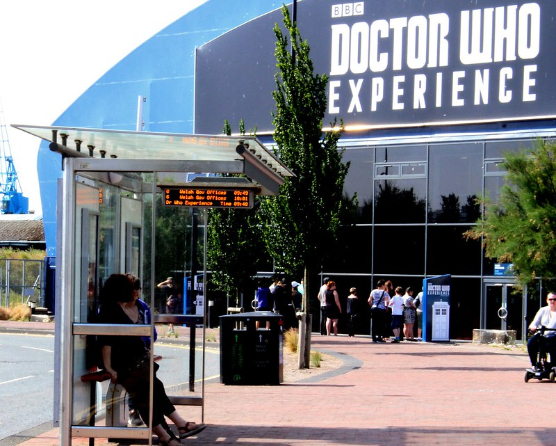 Cardiff: Doctor Who Experience - bus stop