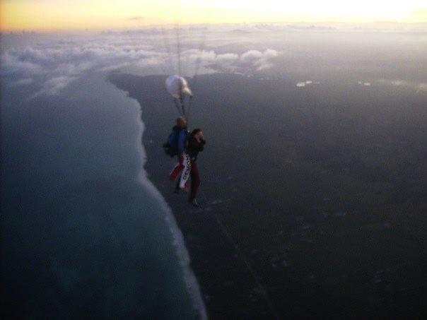 Flora skydiving in Kenya 2006