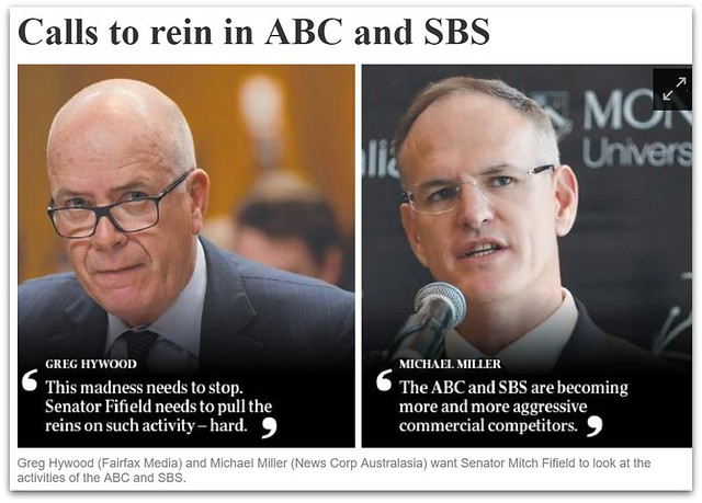 Calls to rein in ABC and SBS - from The Australian