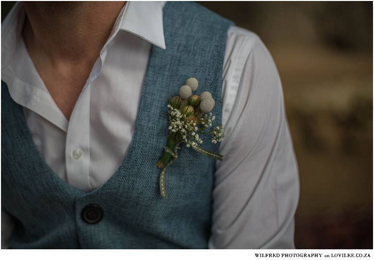 Chalky greens, fynbos and Protea wedding