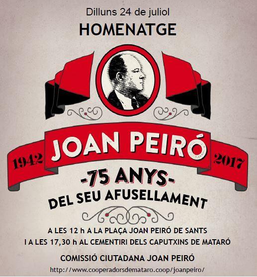 Homenatge a Joan Peiró