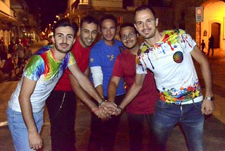 Da sinistra Davide Colapietro, Luca Macina Leone, Francesco Moschetti, Francesco Calisi e Giuseppe Colapietro