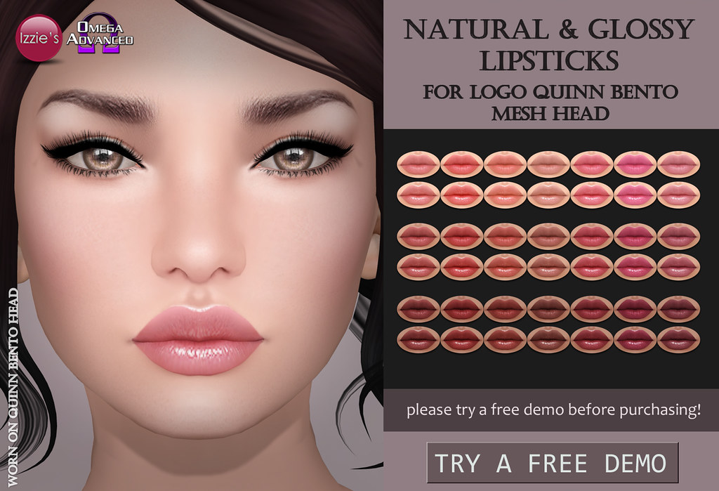 LOGO Quinn Natural & Glossy Lipsticks - SecondLifeHub.com