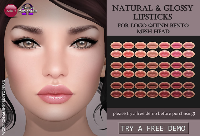 LOGO Quinn Natural & Glossy Lipsticks