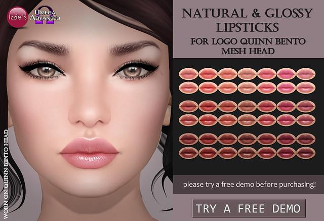 LOGO Quinn Natural & Glossy Lipsticks