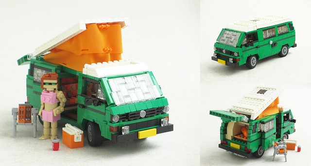 soak   sun    lovely green volkswagen  westfalia camper van  brothers