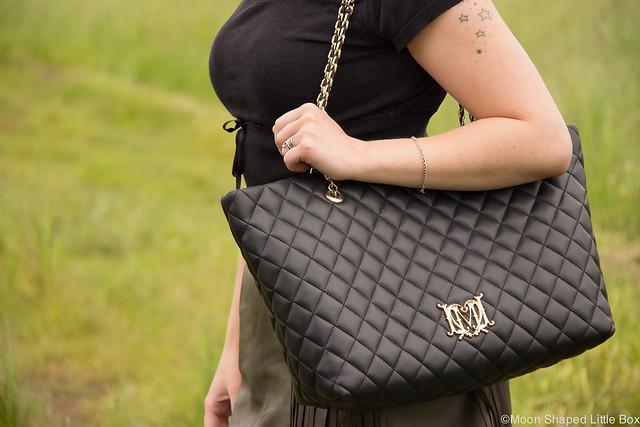 OOTD Outfit Leatherskirt Nahkahame Hapsut Tyyliblogi Muoti pukeutuminen päivän asu bloggaaja Ompelimo Rokita Love Moschino Bag tikkilaukku tyyli