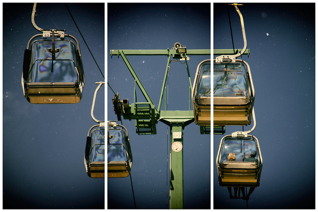 Seat cable car - triptych