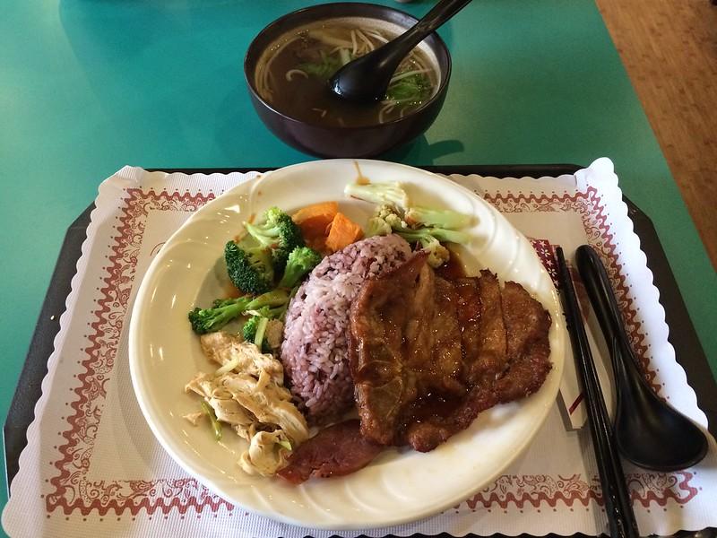 烏骨茶湯+泰式豬排飯