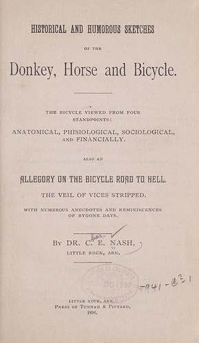 Anti-Bicycle book from 1896