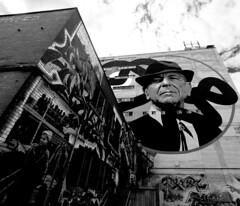 Leonard Cohen Tribute Mural by Kevin Ledo