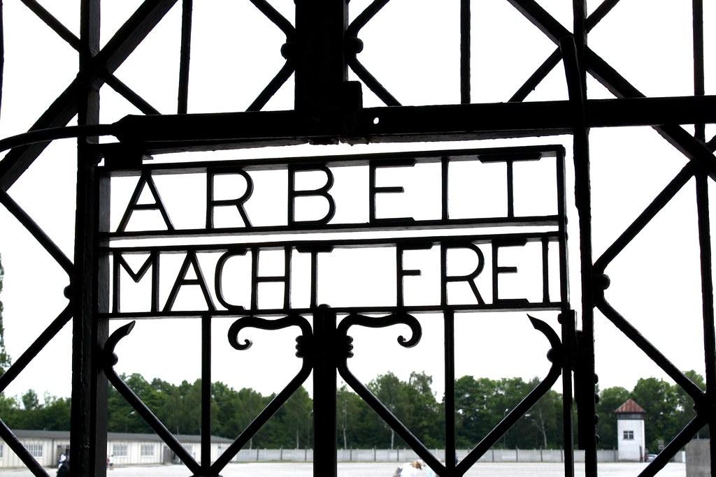 Arbeit Macht Frei Gate at Dachau. Copyright 2017 Jonny Eberle.