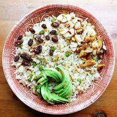 Brown Rice Walnut Salad (Source) VeganFoodPorn.pictures/ | Vegan Cookbooks On Sale! Like Us On Facebook | Follow Us On Twitter