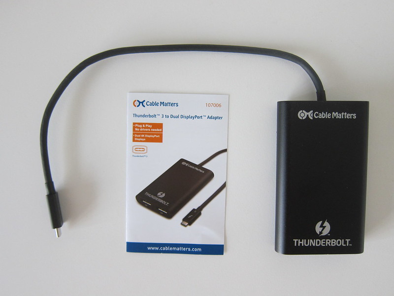 Cable Matters Thunderbolt 3 to Dual DisplayPort Adapter - Box Contents