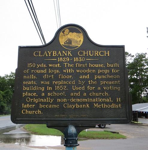 Claybank Church Marker Ozark AL