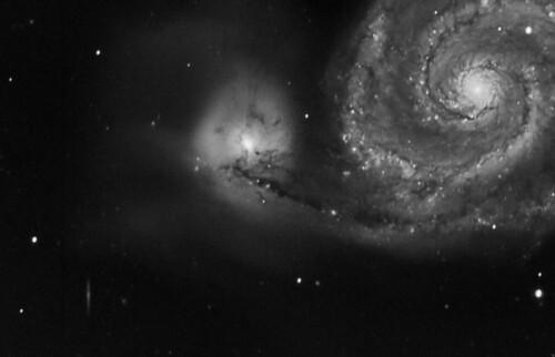 Never let you go: M51 and NGC 5195, Remote Nerpio, ESP