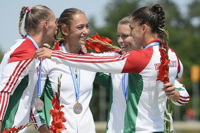 Kajak-kenu Eb - Aranyérmes a női kajaknégyes 500 méteren
