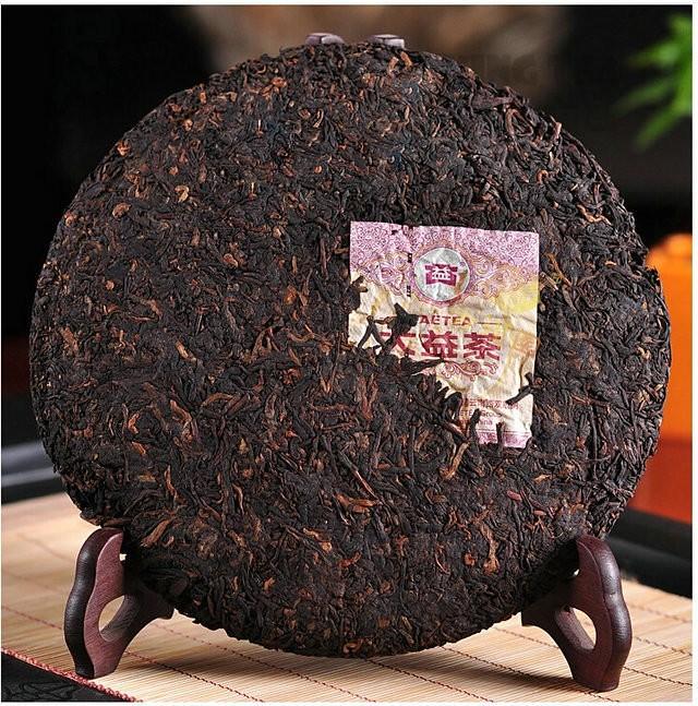 Free Shipping 2010 TAE TEA DaYi 7552 Cake Beeng 357g YunNan MengHai Organic Pu'er Pu'erh Puerh Ripe Cooked Tea Shou Cha