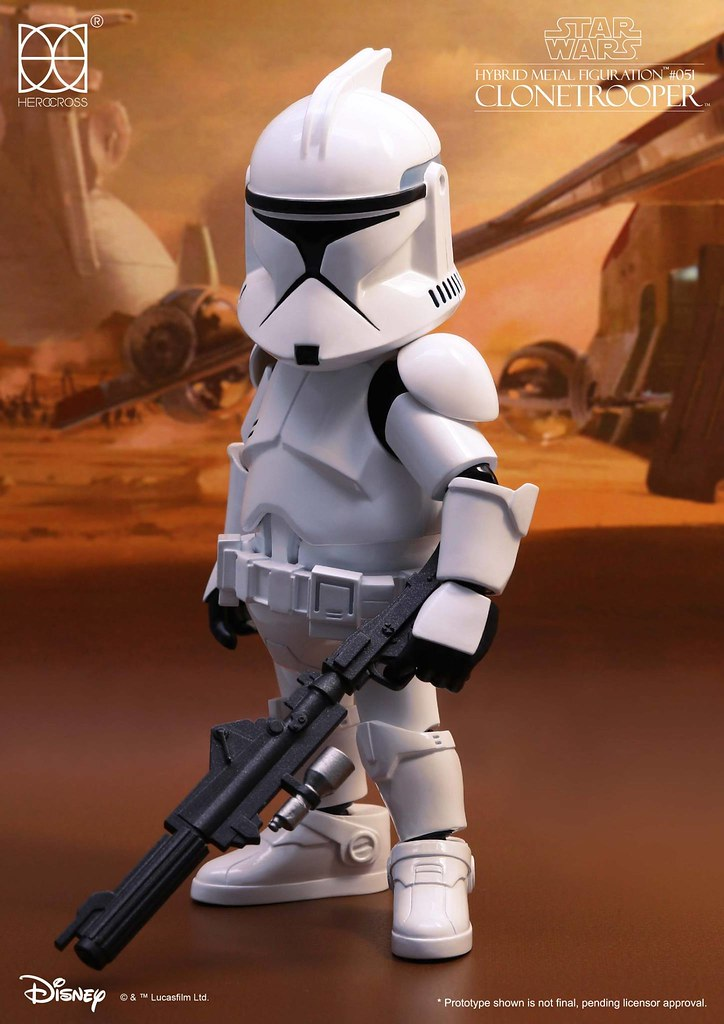 HEROCROSS HMF 系列 星際大戰二部曲:複製人全面進攻【複製人士兵 第一階段】Republic Clone Trooper (Phase 1) HMF#051