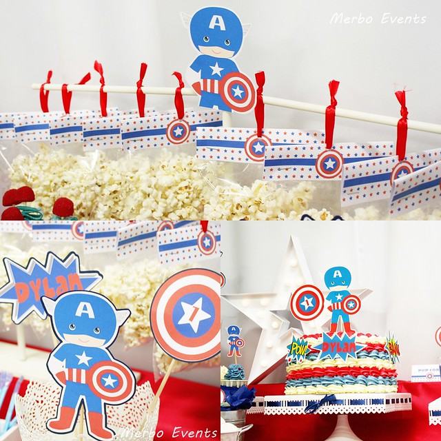 cumpleaños capitan america Merbo Events