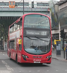 Arriva London South . HV30 LJ11EFW . Brixton LUL Station , South London . Saturday 15th-July-2017 .