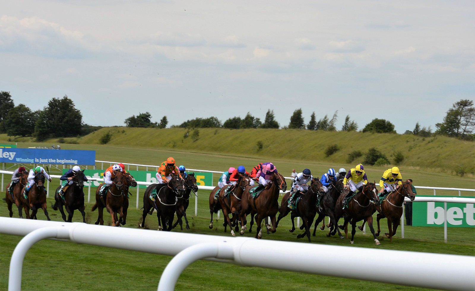Sprint for home at the Newmarket July Course