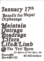 Maintain, Outrage, Roadrage, Lifers, Life & Limb @ The Yeti Room