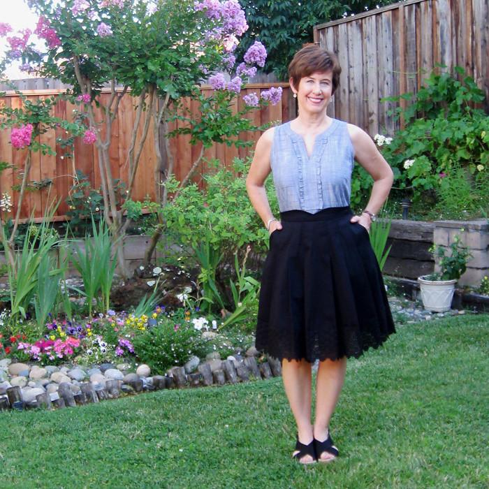 Mirambel skirt on me sq