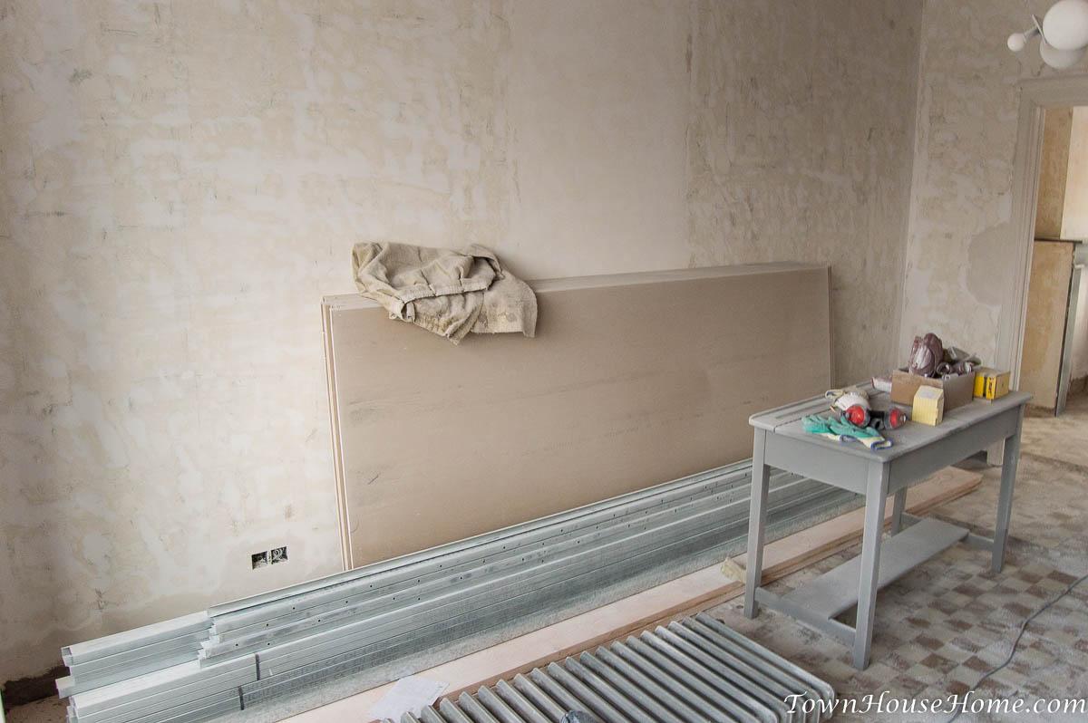 First floor ceiling drywall