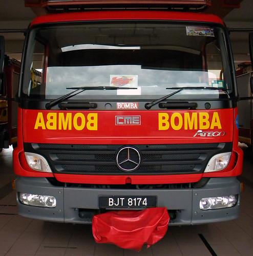 Bomba or Firetruck in Melaka, Malaysia