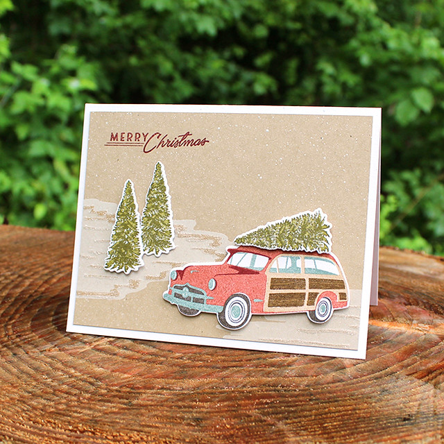 Merry Christmas Station Wagon Card