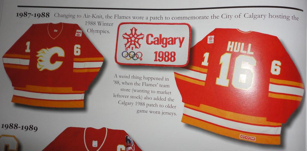 1987-87 Brett Hull Calgary Flames Away Jersey Book Listing