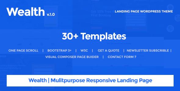 Wealth v1.2.2 – Multi-Purpose Landing Page WordPress Theme